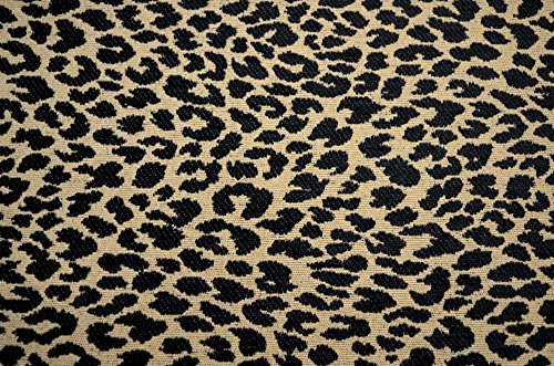 Black Leopard Cheetah Upholstery M9818 Onyx Merrimac Barrow Fabric Leopard Upholstery Fabric