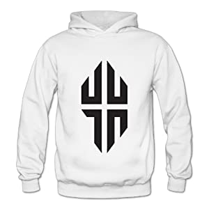 Lennakay Work Adult's Jeremy Lin Hoodie With No Pocket White For Woman SizeXXL