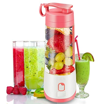 Amazon.com: woocon Personal Blender Botella, Mano Juicer ...