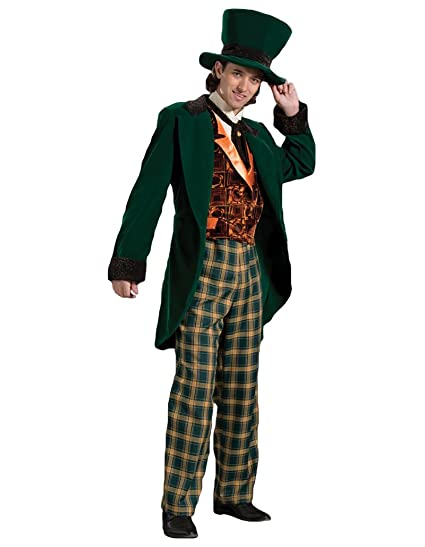 Victorian Men's Costumes: Mad Hatter, Rhet Butler, Willy Wonka Mens Deluxe Mad Hatter Theater Quality Costume $369.99 AT vintagedancer.com