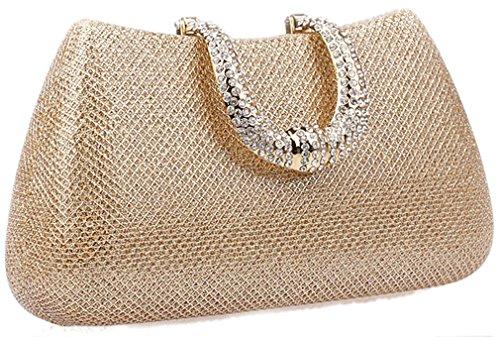 Thenice Wedding Rhinestone Clutch Women's Evening Sequins Gold Bags 1Oz1ATqwx