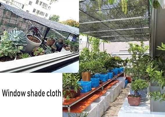 Red de sombra Rollo crudo del paño negro de la sombra de la pérgola, red resistente resistente ULTRAVIOLETA resistente de la sombra del protector solar de UV para el invernadero / las