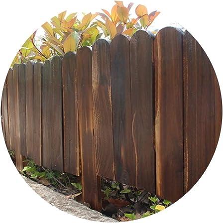 YYFANG Valla Madera Jardín Rejas De Jardín Línea Divisoria De Jardín Carbonización De Alta Temperatura Impregnación Impermeable, 4 Tamaños (Color : Brown, Size : 40x100cm): Amazon.es: Hogar