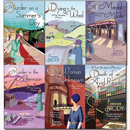 Kate Shackleton Mysteries Series(1-6) Collection Frances Brody 6 Books Set (Dying In The Wool, A Medal For Murder, Murder In The Afternoon, A Woman Unknown, Death of an Avid Reader..