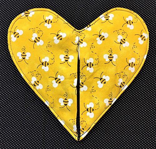 Bumble Bees Heart Shaped Pot Holder