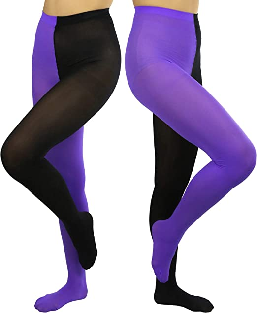 ToBeInStyle Women/'s Two-Tone Ankle Length Athletic Leggings