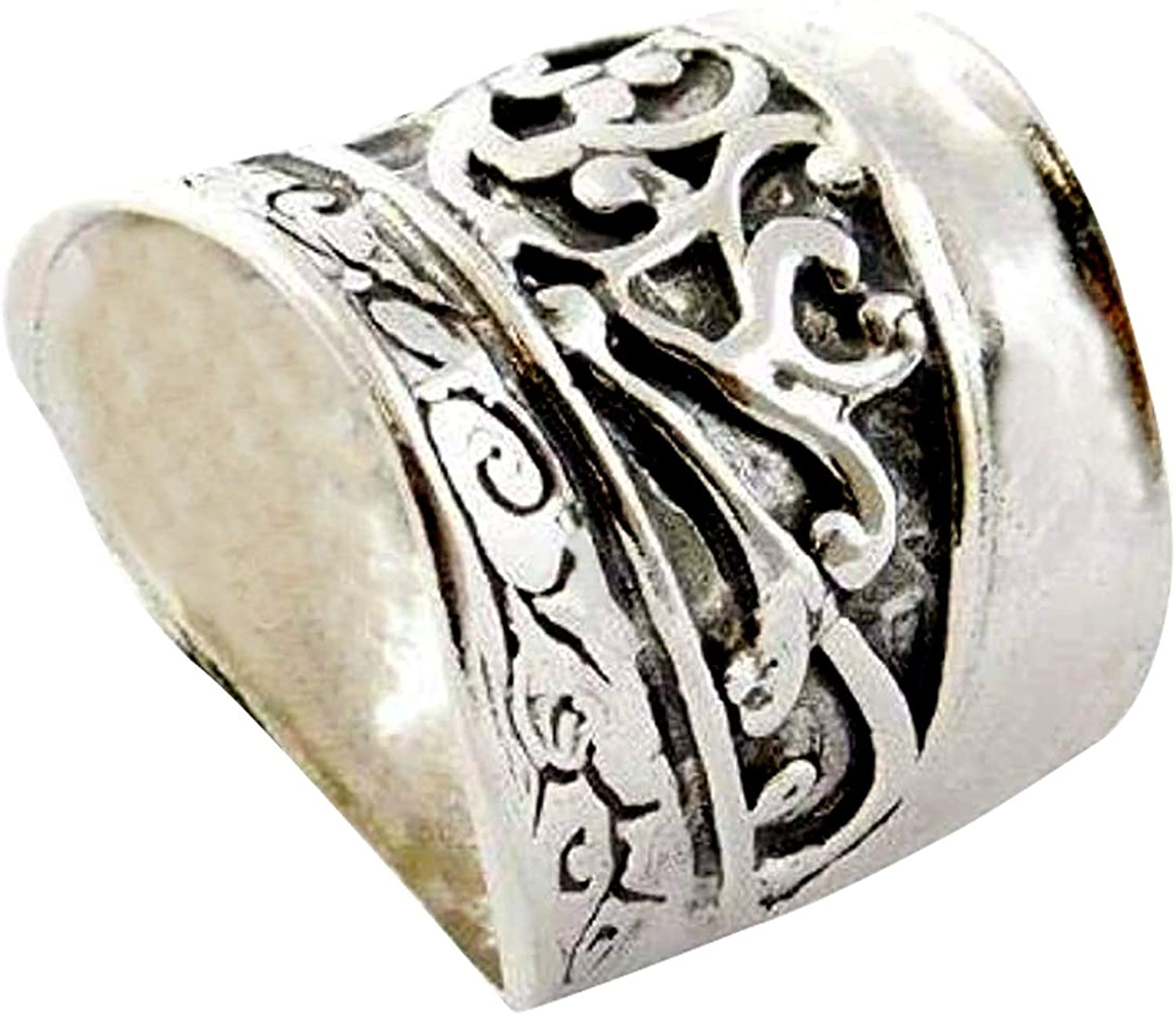 HandMade Silver Gift for Mom FREE SHIPPING Wife Ring 14K Gold Plated 925 Sterling Silver Vintage Sister