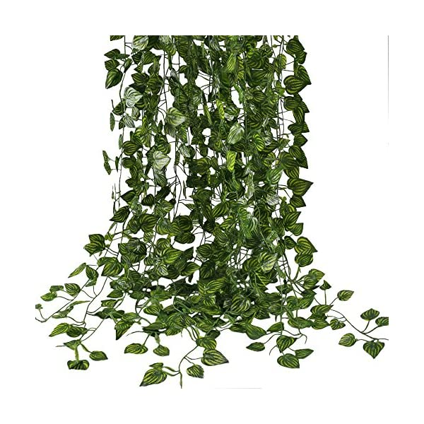 HOGADO-Fake-Vines-79-FT-Artificial-Hanging-Plants-Silk-Golden-Devils-Ivy-Leaves-for-Reptiles-Wall-Livingroom-Outdoor-Party-Festival-Decor-Pack-of-12