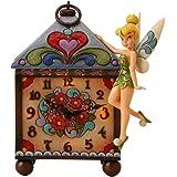 エネスコ ディズニートラディション 木彫り調フィギュア ピーターパン ティンカーベル 掛け時計 4016536 「並行輸入品」