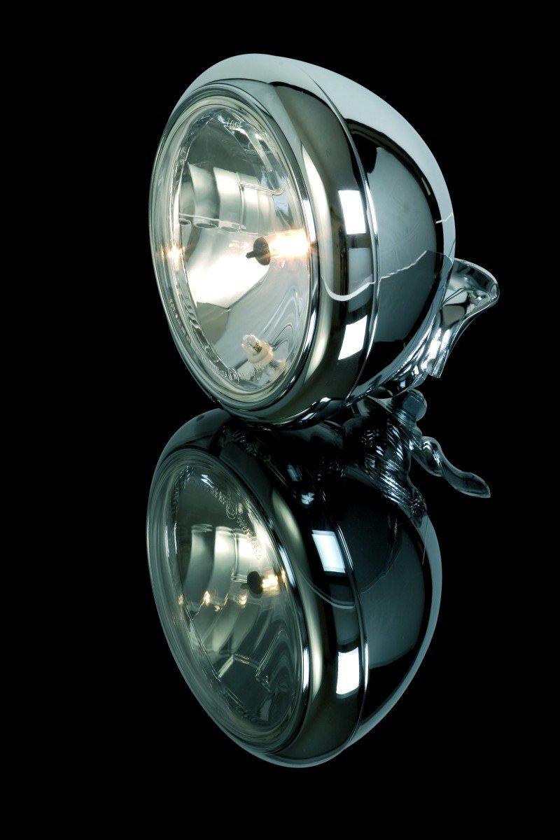 clear lens 7 inch Harley headlamp chrome