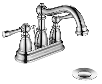 4 spread faucet commercial purelux traditional two handle 4quot spread centerset bathroom faucet with drain assembly chrome finish 4