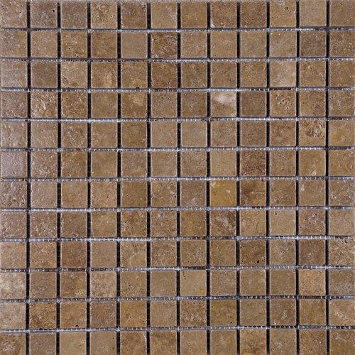 - Epoch Tile NO1X1 1x1 Noce Tumbled Travertine