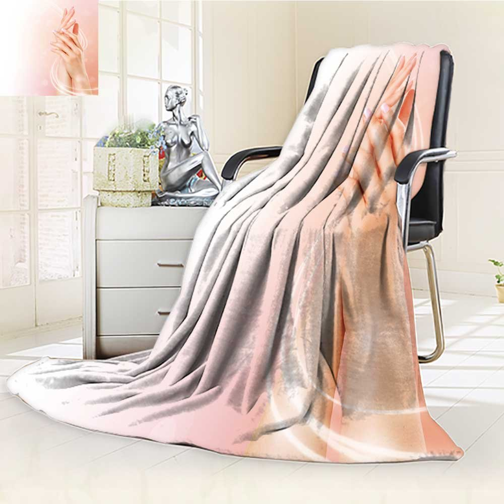 Decorative Throw Blanket Ultra-Plush Comfort Beautiful female hands. Spa and manicure concept Soft, Colorful, Oversized | Home, Couch, Outdoor, Travel Use(60''x 50'')