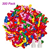 iRunning 300 Pack Self-sealing Water Balloons, Colorful Water Balloons...