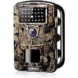 enkeeo トレイルカメラ 不可視赤外線 1080P 1200万画素 フルHD 高画質 IP66高防水 電池式 SDカード自動録画 動物観察 暗視 防犯用 PH700【メーカー保証】(SDカードなし)