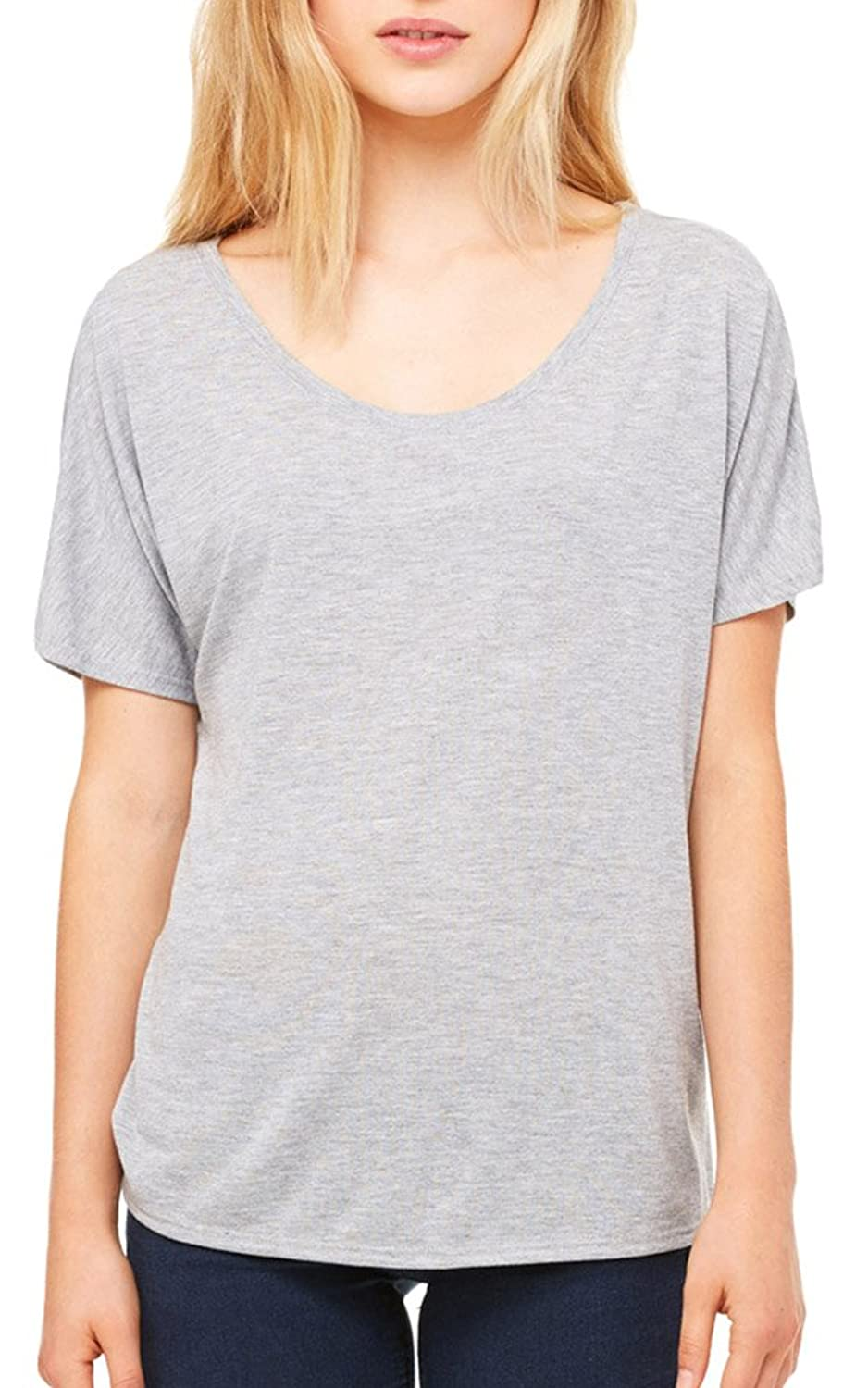 Bella + Canvas Womens Slouchy T-Shirt (8816) ATHLETIC HEATHER