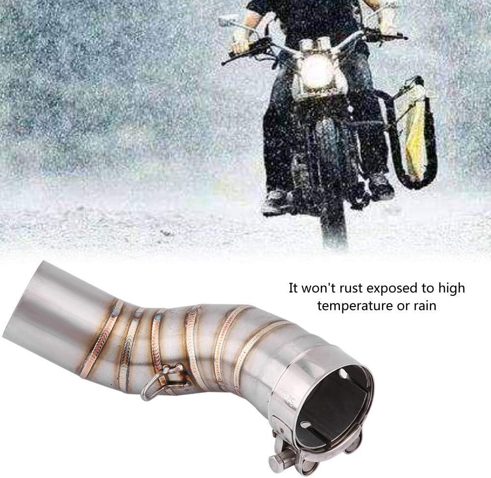 Sistema de tuber/ía de enlace medio de escape deslizante para motocicleta Tubo de conexi/ón de escape compatible con Kawasaki Z900 2017-2018
