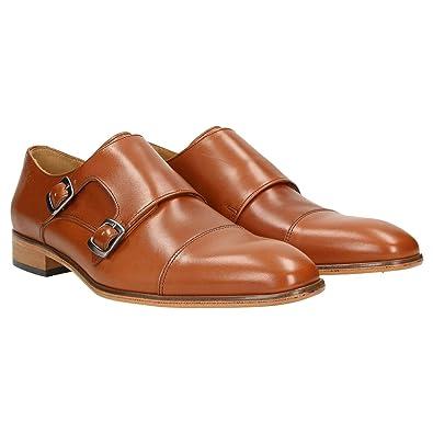 1cdd4761c2981a Zweigut® -Hamburg- smuck  257W Schuhe Monkstrap Herren Double Monk-Strap  Leder