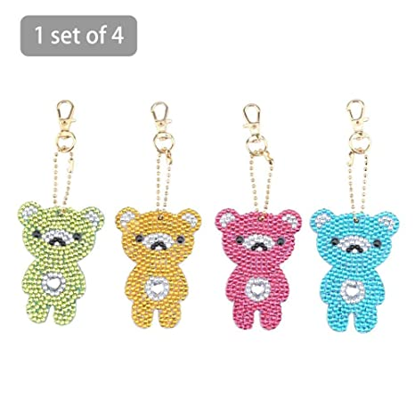 Welltobuy Llavero Little Bear Llavero DIY Diamante Pintura ...