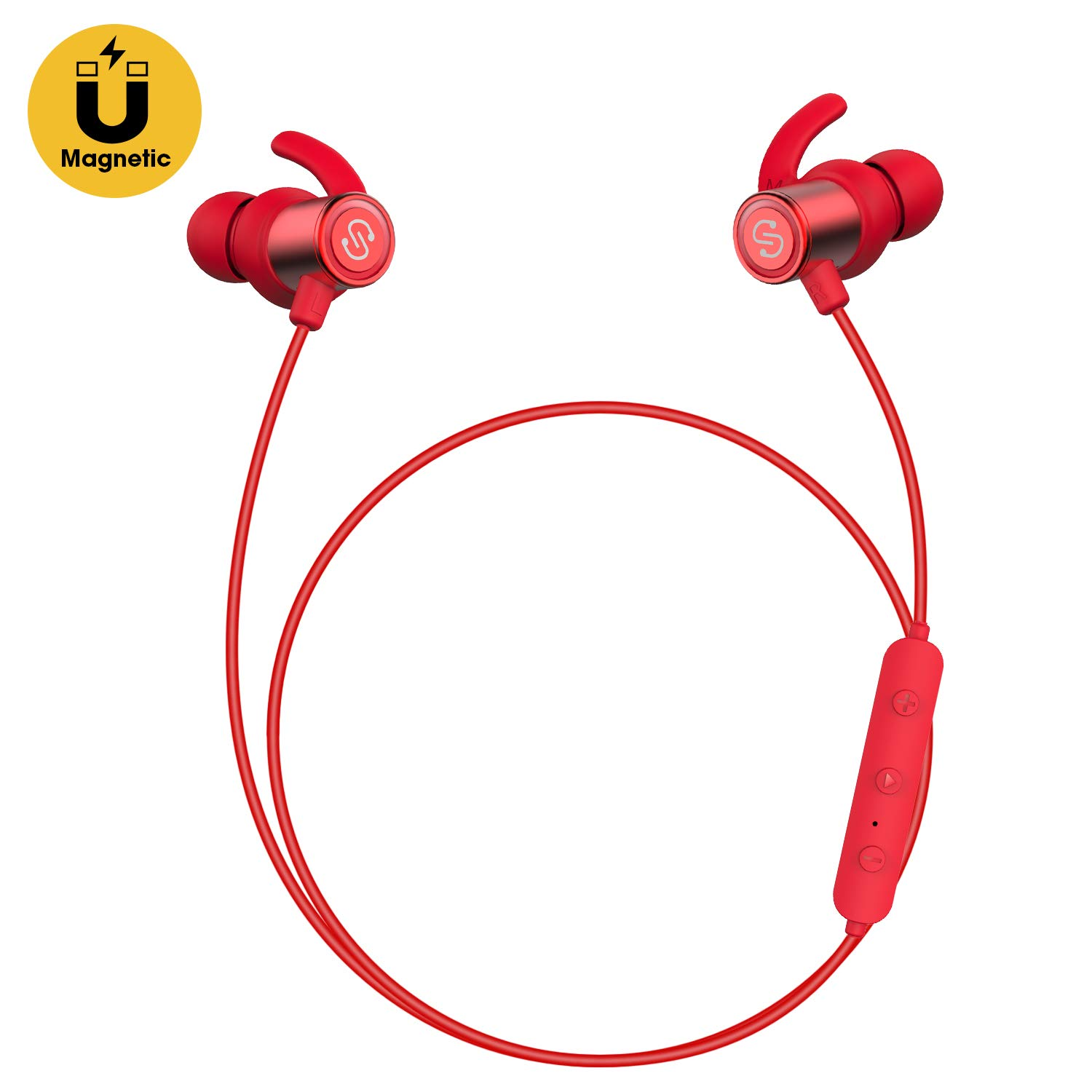 SoundPEATS Bluetooth Earphones with Mic, Q30 Dual 4.1 Magnetic Wireless Headsets IPX 6 for Gym,Secure Fit In Ear works with iPhone, iPad, Samsung and More,Super Bass,Lightweight,8 Hours Play Time