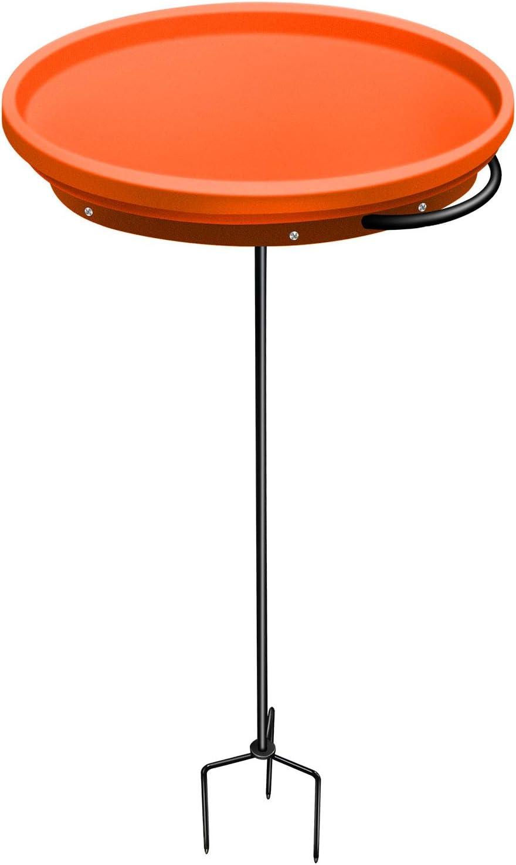 GESAIL Heated Bird Bath Bowls Only, 75 W Bird Bath Heater with Pedestal Garden Outdoor Birdbaths (Orange)