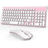 J JOYACCESS Rechargeable Wireless Keyboard Mouse, 2.4G Thin Wireless Computer Keyboard and Mouse, Ergonomic,Compact…