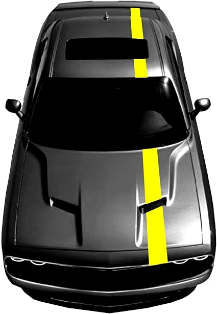 Dodge Challenger Over-The-Top Offset Stripes Decals 2011 2012 2013 2014 Pro Moto