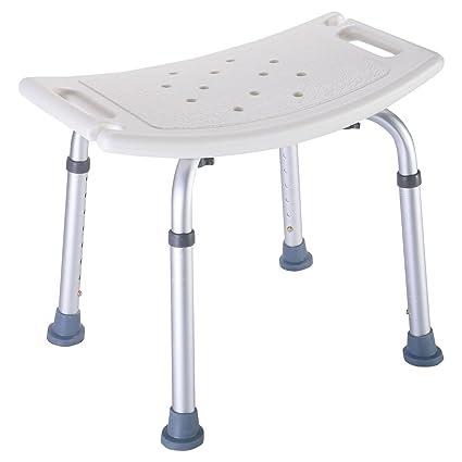 Genial 8 Height Bench Bathtub Stool Seat White New Bath Shower Chair Adjustable  Medical
