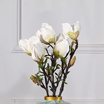 Jarrones De Ceramica Adornos Florales Flores Artificiales De - Adornos-florales