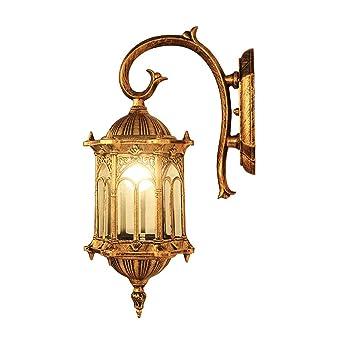 Vintage Plein AirImperméable Gol Douille Murale E27 Applique Lampe XuZPTOki
