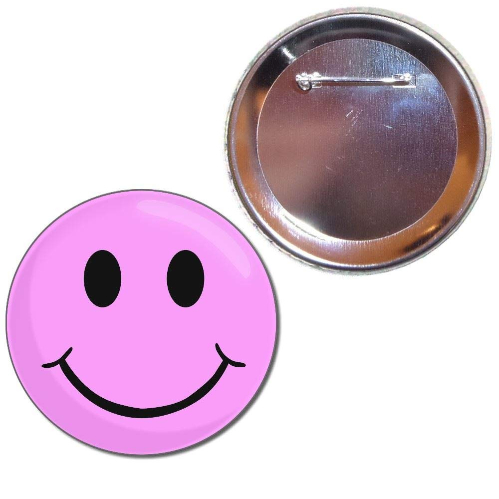 Pink Smiley - Bouton choix de badges de 25mm, 55mm ou 77mm taille BadgeBeast