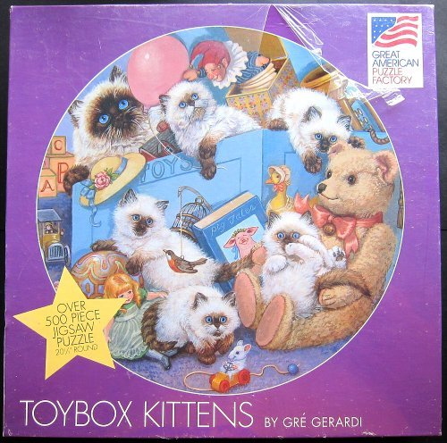 ToyBox Kittens By Gre Gerardi Over 500 Piece Piece Piece Jigsaw Puzzle by Great American 785279