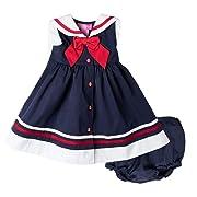 Good Lad Newborn & Infant Girls Navy Nautical Dress with Matching Panty (3/6M)