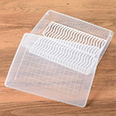 Caja de Almacenamiento de Drenaje de refrigerador de Cocina Caja de Fruta de plástico Caja de Almacenamiento congelado (Blanco): Amazon.es: Hogar