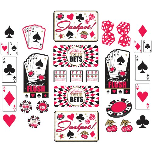 Casino Party Mega Value Pack Cutout Set -