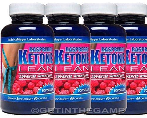 4 BTL RASPBERRY KETONE LEAN BEST #1 MARITZMAYER Fat Weight Loss 1200 mg 60 Cap by KETONE LEAN