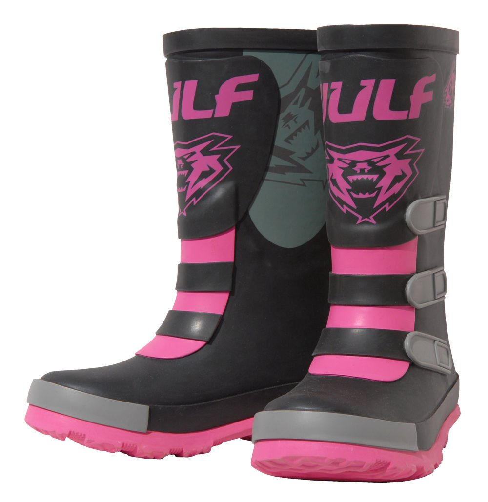 Wulfsport Kids Mud Stomper Junior Motocross Wellington Boots Rain Shoes Black EU23