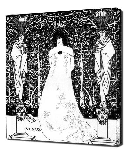 Aubrey Beardsley - Venus Between Terminal Gods - Canvas Art Print Reproduction (Venus God Of Love)