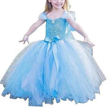 iPretty Vestido infantil Disfraz de Princesa para Fiesta Carnaval Cosplay para Niñas Talla: XL(