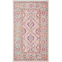 Safavieh Windsor Collection WDS315S Spa and Fuchsia Vintage Distressed Bohemian Runner (3 x 10)