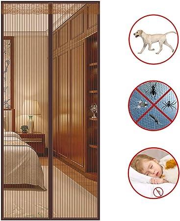 WMWJDQ Mosquitera para Puerta Protección contra Insectos Magnético,Cierre Automático,Buena Ventilación,para Puertas Correderas,Balcones,Terraza,B,90x210cm: Amazon.es: Hogar
