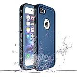 SPORTLINK iPhone7 防水ケース iPhone8 防水ケース アイフォン7/8 対応 IP68規格 完全防水 耐衝撃 防塵 防雪 保護ケース 指紋認証対応 軽量 高品質 無線充電サポート 携帯カバー (ブルー)