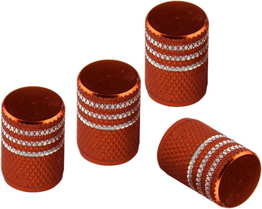 B Baosity 4X Bouchons de Valve en M/étal pour Pneus de V/élo Orange Voiture Moto