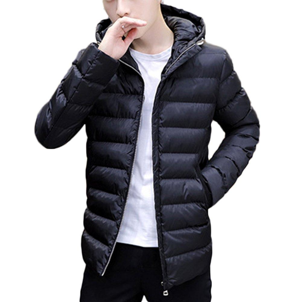 Piumino Uomo, Inverno Giacca di Piume Giacca in giù con Cappuccio Cappotto Leggero