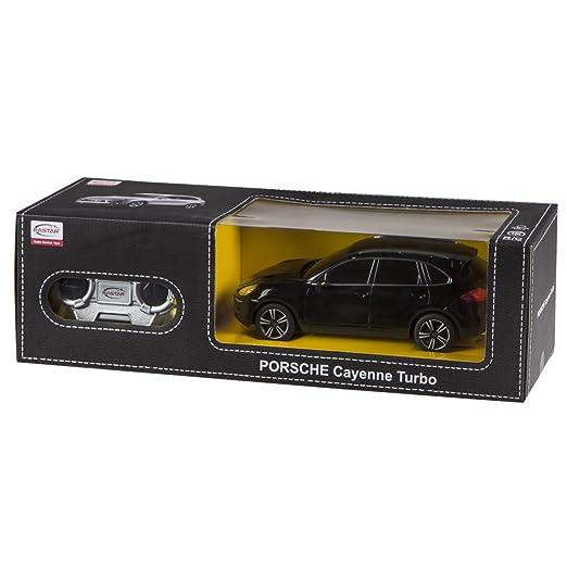 Rastar - Porsche Cayenne Turbo, coche teledirigido, escala 1:24, color negro (ColorBaby 85040): Amazon.es: Juguetes y juegos