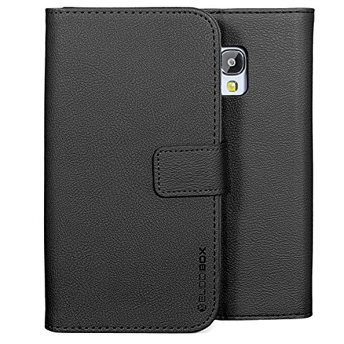 Galaxy S5 Active Case, BUDDIBOX [Wallet Case] Premium PU Leather Wallet Case with [Kickstand] Card Holder and ID Slot for Samsung S5 Active, (Black) (Samsung S5 Otter Box Wallet Case)