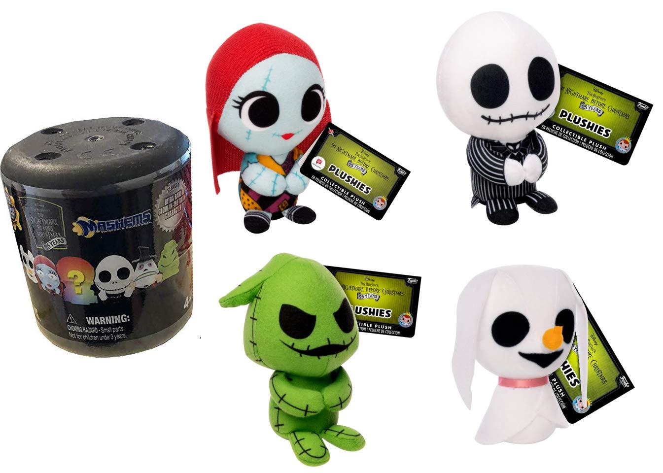 Amazon.com: Spooky and Lovable 4 Nightmare Before Christmas Jack & Sally Plush Doll & Zero Ghost Dog + Oogie Boogie Mini Halloweentown Stuffed Character ...