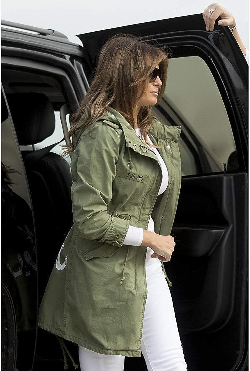 Wamvp Mujer Invierno Casual M/ás Gruesa Abrigo Militar con Capucha Chaqueta de Acolchado Anorak Jacket Outwear Coats