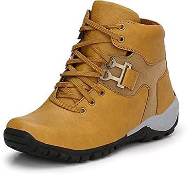 d504cb84da7 DLS Tan Casual Party wear Boots Shoes for Men's Party Wear for Men (Tan)  for Men (Brown)