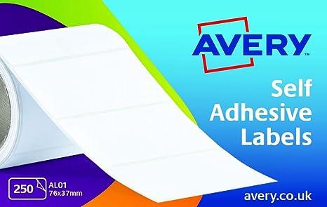 Avery Dennison Al01 - Etiquetas para máquina de escribir (250 unidades), color blanco